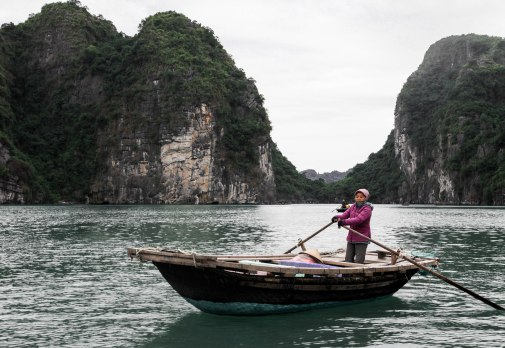 A senior resident of the famous Halong Bay fishing village.