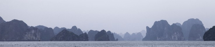 A spooky view of Halong Bay.