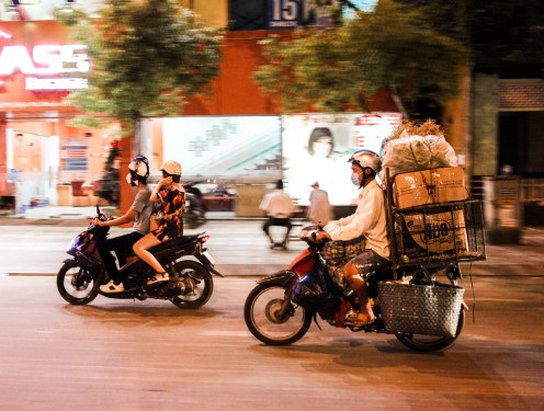 Getting around in Ho Chi Minh.