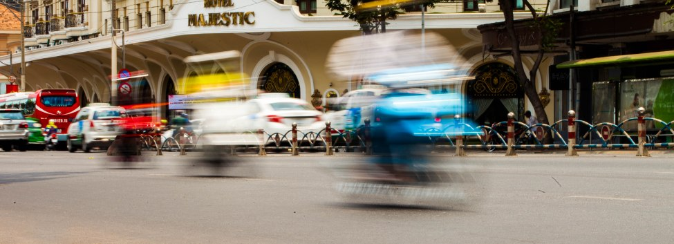 The blur of the traffic of Ho Chi Minh.