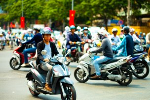 The busyness of Vietnam's roads.