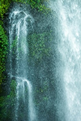The power of Rinjani's waterfalls.