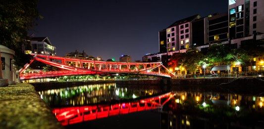 Red Bridge at Robertson's Quay