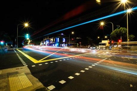 Rushing Colour at Night